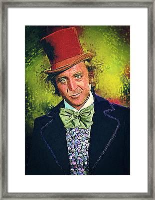 Willy Wonka Framed Print