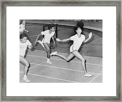 Wilma Rudolph 1940-1994 At The Finish Framed Print by Everett