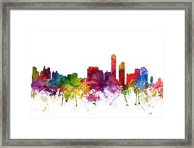 Wilmington Cityscape 06 Framed Print