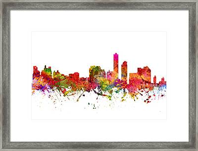 Wilmington Cityscape 08 Framed Print by Aged Pixel