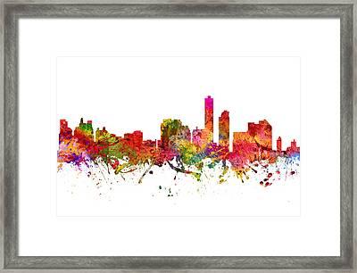 Wilmington Cityscape 08 Framed Print