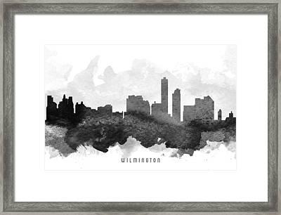 Wilmington Cityscape 11 Framed Print
