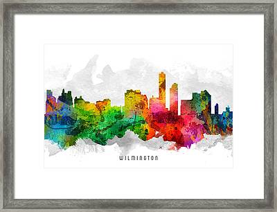 Wilmington Delaware Cityscape 12 Framed Print by Aged Pixel