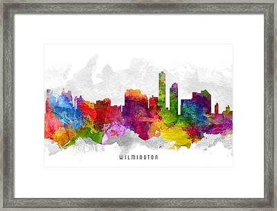 Wilmington Delaware Cityscape 13 Framed Print