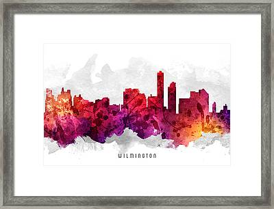 Wilmington Delaware Cityscape 14 Framed Print by Aged Pixel