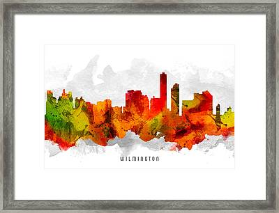 Wilmington Delaware Cityscape 15 Framed Print by Aged Pixel