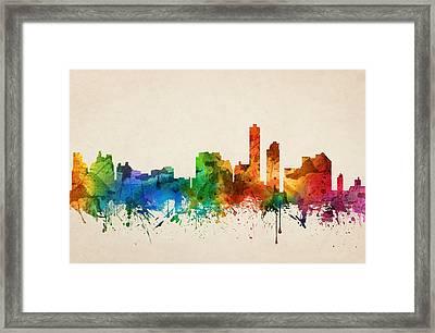 Wilmington Delaware Skyline 05 Framed Print