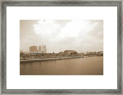 Wilmington Riverfront Retro Framed Print