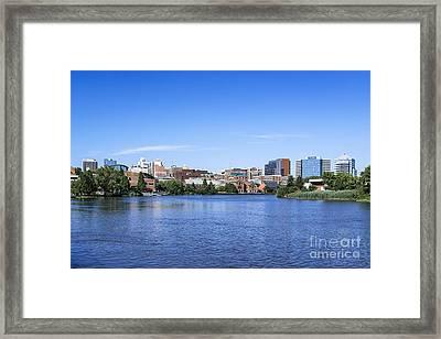 Wilmington Skyline Framed Print by John Greim