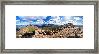 Wilpena Pound And St Mary Peak Framed Print by Bill  Robinson