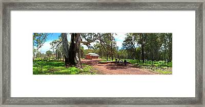 Wilpena Pound Homestead Framed Print by Bill Robinson
