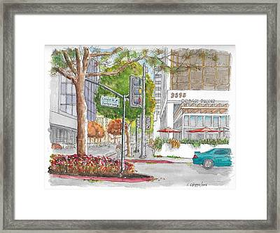 Wilshire Blvd. And Camden Dr. In Beverly Hills, California Framed Print by Carlos G Groppa