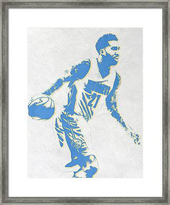 Wilson Chandler Denver Nuggets Pixel Art Framed Print by Joe Hamilton