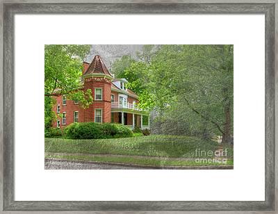 Wilson J. Maple And Grace Senne House Framed Print by Larry Braun