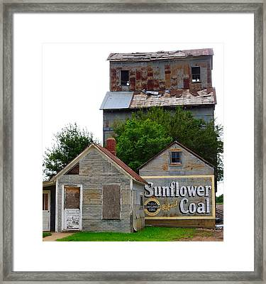 Wilson Kansas Grain Mill #1 Framed Print by Lynne and Don Wright