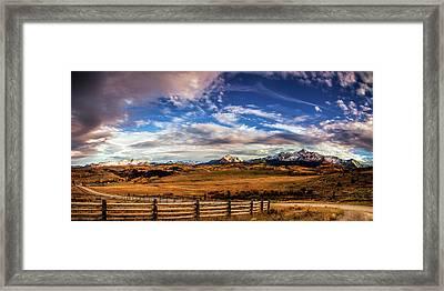 Wilson Mesa At Autumn Framed Print by Andrew Soundarajan