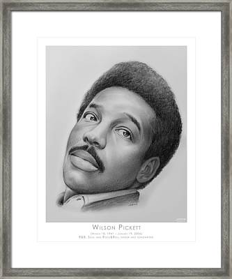 Wilson Pickett Framed Print by Greg Joens