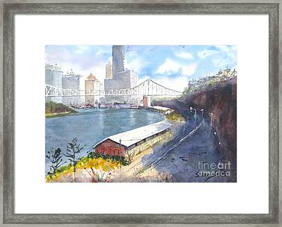 Wilson's Lookout Brisbane Framed Print by Sof Georgiou