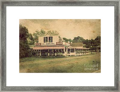 Wilson's Restaurant And Ice Cream Parlor Framed Print