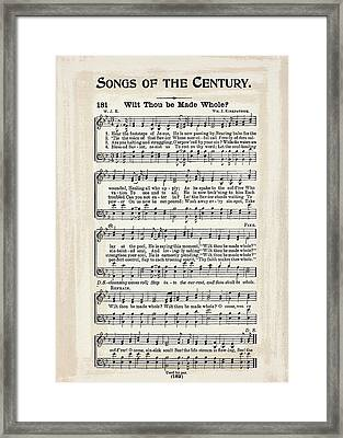 Wilt Thou Be Made Whole 1900 Framed Print