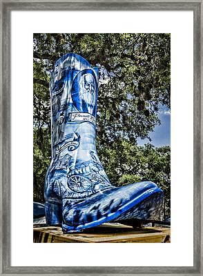 Wimberley Blue Boot Framed Print by Stephen Stookey