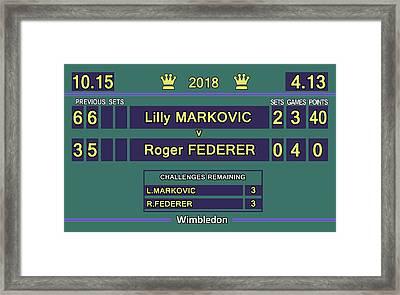Wimbledon Scoreboard - Lilly Markovic - 4-13 Framed Print
