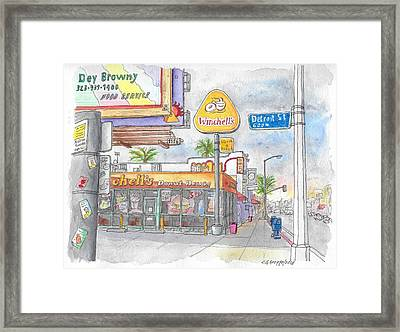 Winchells Donut House In Melrose And Detriot St., Hollywood, California Framed Print