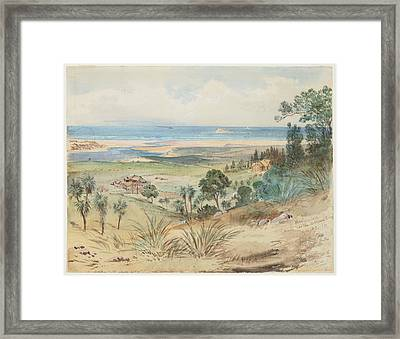 Winchendon On The Kaikorai River, 1865, By Nicholas Chevalier. Framed Print