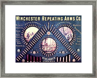 Winchester 1888 Cartridge Board Framed Print