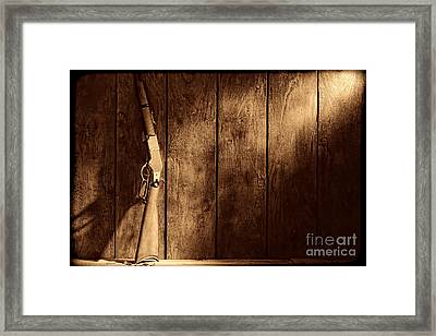Winchester Framed Print by American West Legend By Olivier Le Queinec