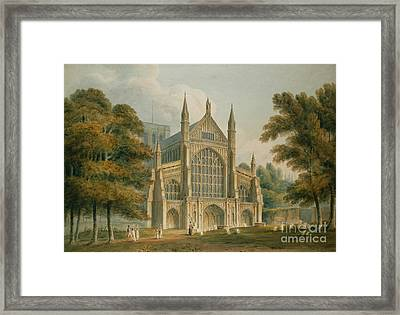Winchester Cathedral Framed Print by John Buckler