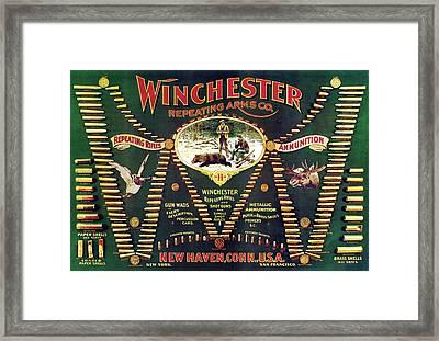 Winchester Double W Cartridge Board Framed Print