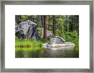 Winchester Lake Rocks Framed Print