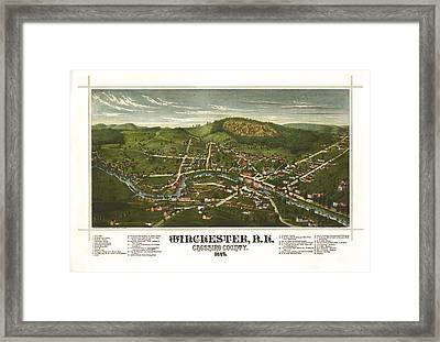 Winchester New Hampshire 1887 Framed Print
