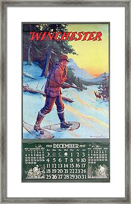 1927 Winchester Repeating Arms And Ammunition Calendar Framed Print