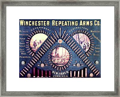 Winchester Repeating Arms - Blue Boy Cartridge Board Framed Print