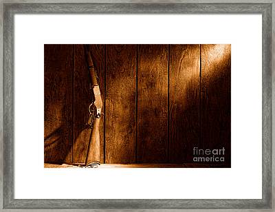 Winchester - Sepia Framed Print by Olivier Le Queinec