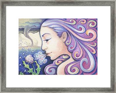Wind - The Elements Framed Print