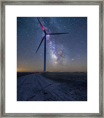 Framed Print featuring the photograph Wind  by Aaron J Groen