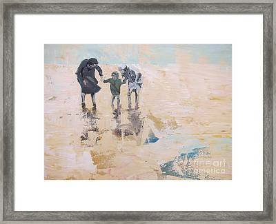 Wind And Kids Framed Print