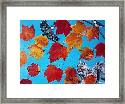 Wind And The Autumn Sky Framed Print by Aleta Parks