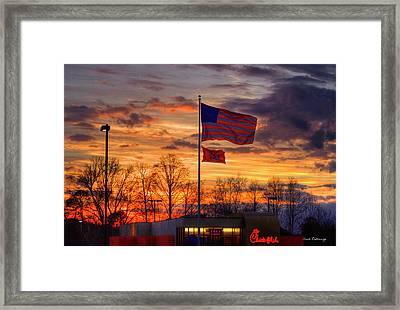 Wind Blown Glory Chick Fil A Art Framed Print by Reid Callaway