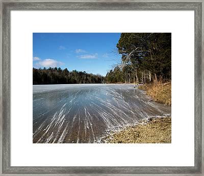Wind Blown Ice Lake Framed Print