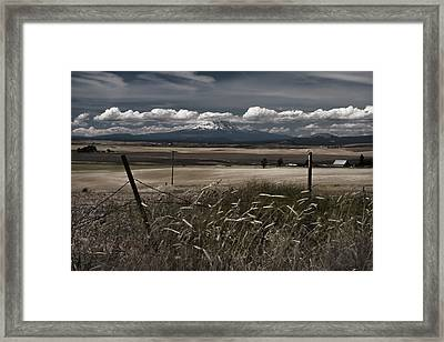 Wind Blown Plains Framed Print