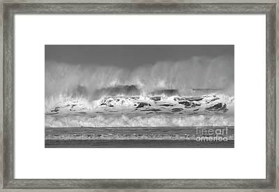 Framed Print featuring the photograph Wind Blown Waves by Nicholas Burningham
