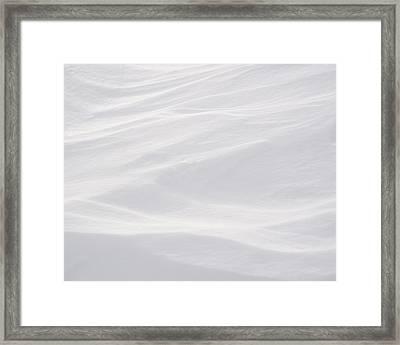 Wind Carved Snow Framed Print