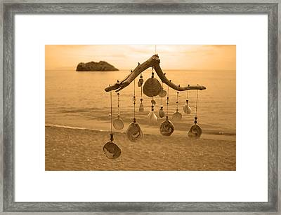 Wind Chime Framed Print by Daren Griffin