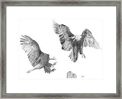 Wind Dancers Framed Print by Eric Black