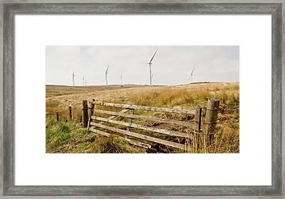Wind Farm On Miller's Moss. Framed Print