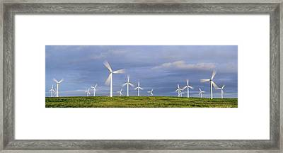 Wind Farm, Scotland Framed Print by Duncan Shaw